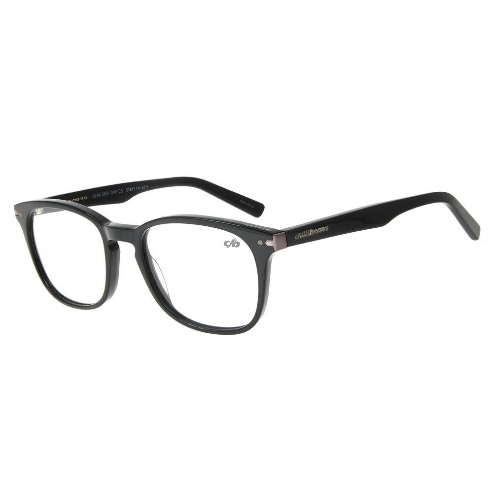 Armação Para Óculos de Grau Masculino Chilli Beans Casual Preto LV.AC.0551-0101