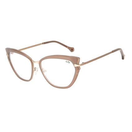 Armação para Óculos de Grau Chilli Beans Gatinho Marrom Claro LV.AC.0617-0288