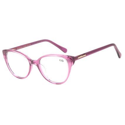 Armação para Óculos de Grau Chilli Beans Feminino Gatinho Roxo LV.AC.0631-1414
