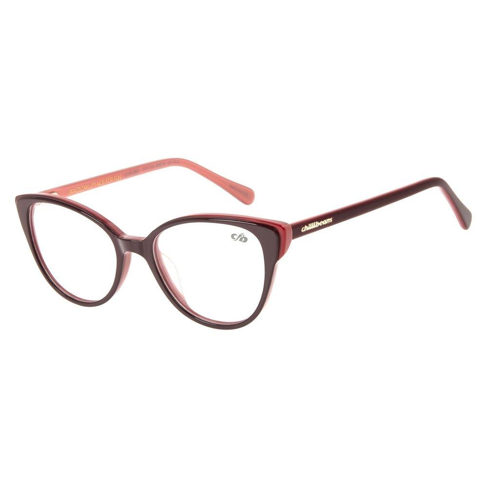 Armação para Óculos de Grau Feminino Chilli Beans Gatinho Vinho LV.AC.0631-1717
