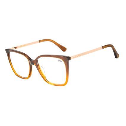 Armação para Óculos de Grau Chilli Beans Feminino Quadrado Marrom LV.AC.0633-0202