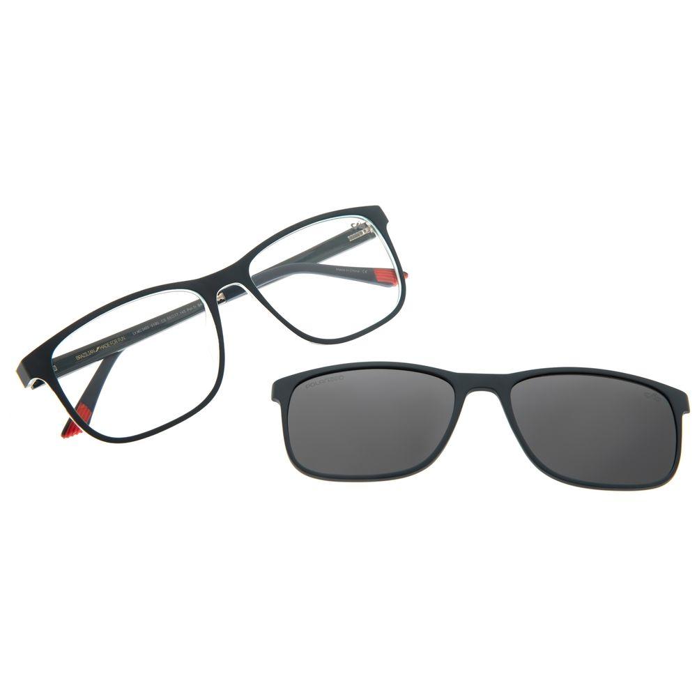 Armação Para Óculos De Grau Masculino Multi Quadrado Azul Escuro Polarizado LV.MU.0403-0190