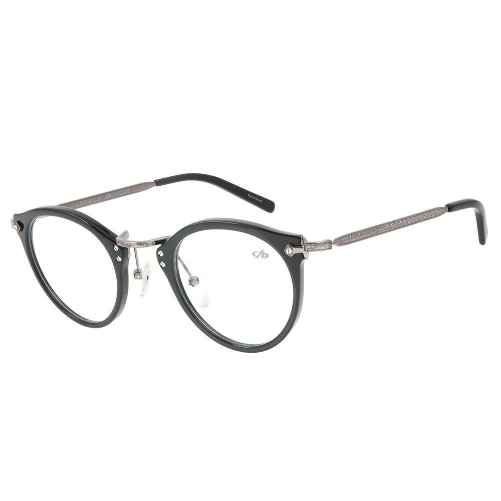 Armação para Óculos de Grau Chilli Beans Feminino Redondo Ônix LV.AC.0637-0122