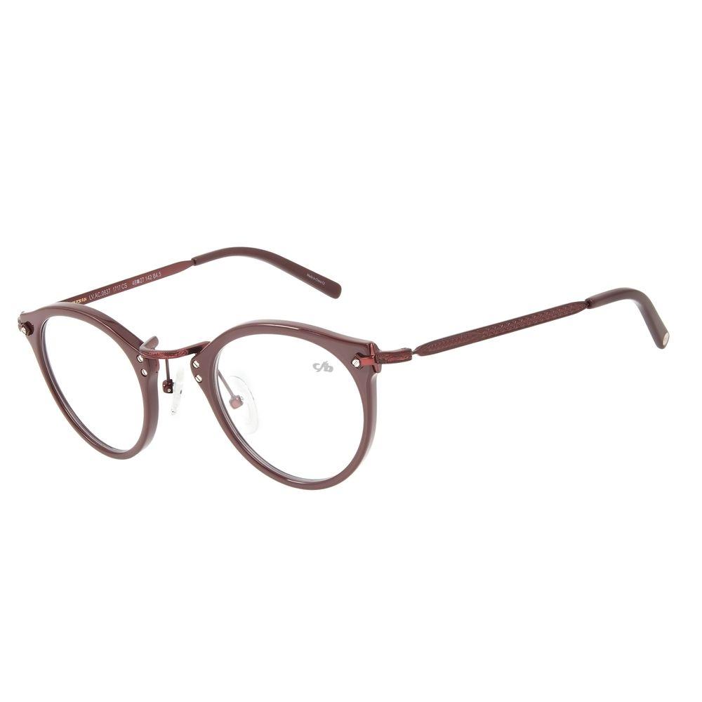 Armação para Óculos de Grau Chilli Beans Feminino Redondo Vinho LV.AC.0637-1717