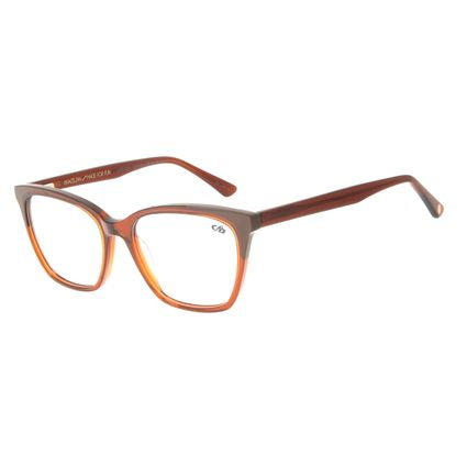 Armação Para óculos de Grau Feminino Chilli Beans Gatinho Marrom LV.AC.0641-0202