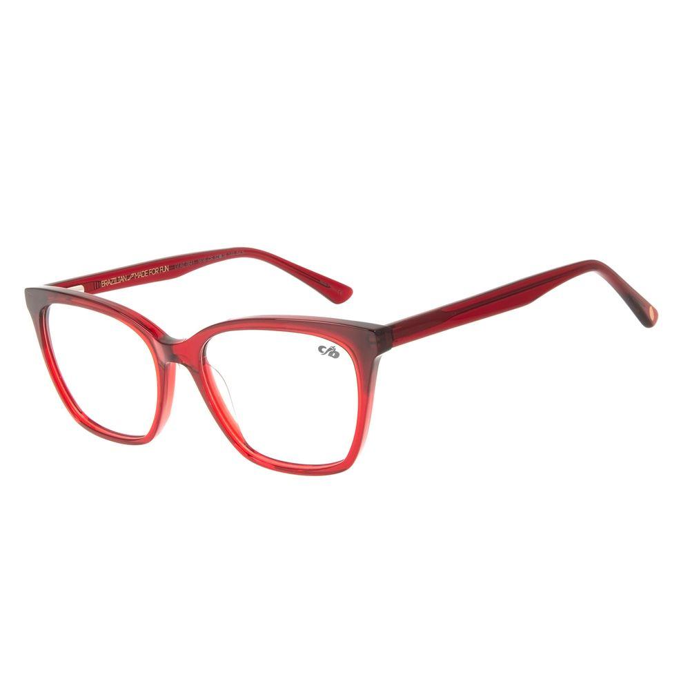 Armação para Óculos de Grau Chilli Beans Gatinho Vermelho LV.AC.0641-1616