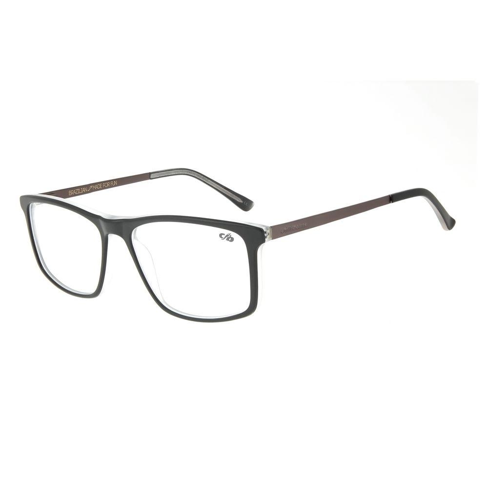 Armação para Óculos de Grau Chilli Beans Masculino Quadrado Ônix LV.AC.0644-0122