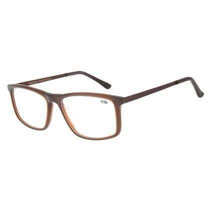 Armação para Óculos de Grau Chilli Beans Masculino Quadrado Marrom LV.AC.0644-0202