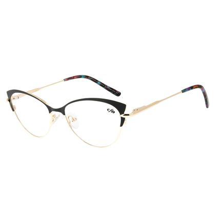 Armação Para Óculos de Grau Feminino Chilli Beans Gatinho Dourado LV.MT.0384-0121