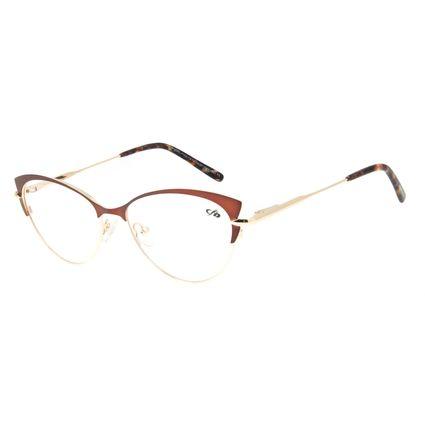 Armação Para Óculos de Grau Feminino Chilli Beans Gatinho Marrom LV.MT.0384-0221