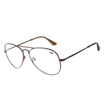 Armação Para Óculos de Grau Feminino Chilli Beans Aviador Marrom Escuro LV.MT.0390-4747