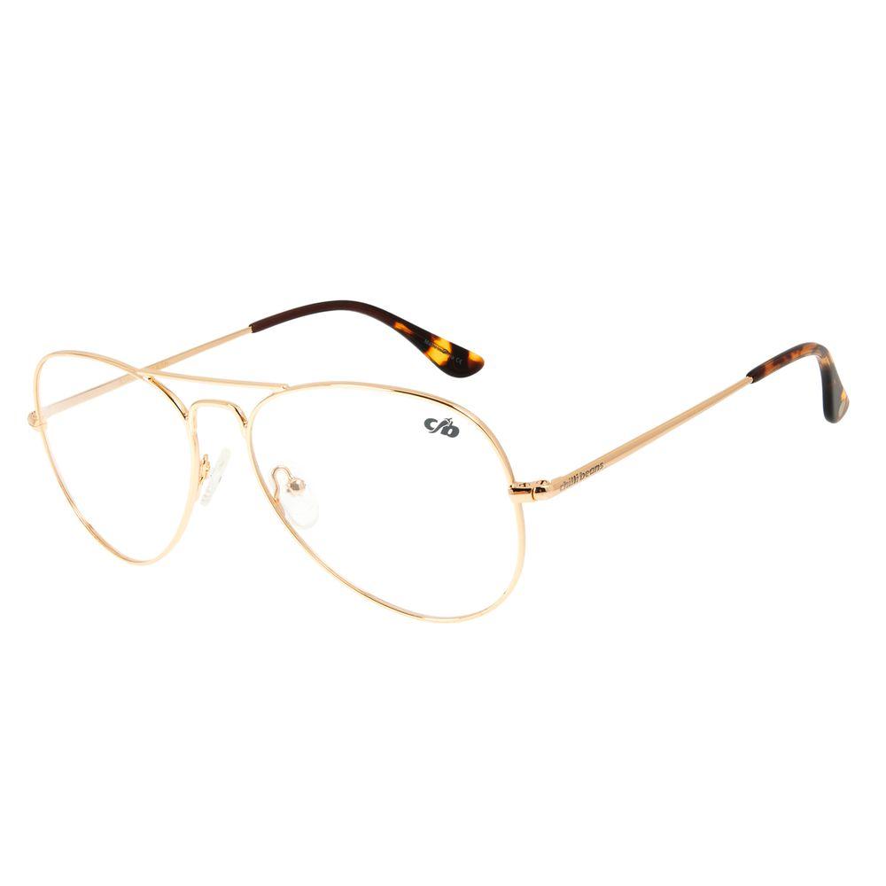 Armação Para Óculos de Grau Feminino Chilli Beans Aviador Dourado Claro LV.MT.0390-6464