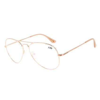 Armação Para Óculos de Grau Feminino Chilli Beans Aviador Rose LV.MT.0390-9595