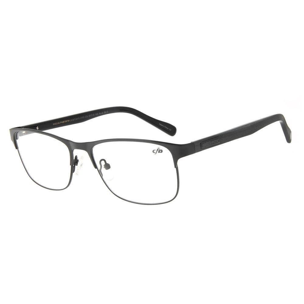 Armação Para Óculos de Grau Unissex Chilli Beans Quadrado Wood Preto LV.MT.0415-0101