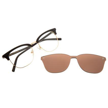 Armação Para Óculos de Grau Masculino Chilli Beans Multi Metal Dourado LV.MU.0337-0221
