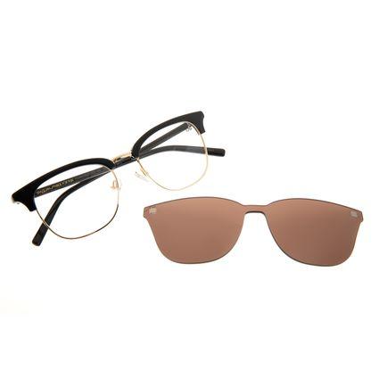 Armação Para Óculos de Grau Masculino Chilli Beans Multi Metal Marrom Escuro LV.MU.0337-4721