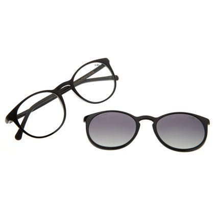 Armação Para Óculos De Grau Unissex Chilli Beans Essential Multi Preto Brilho Polarizado   LV.MU.0406-2001