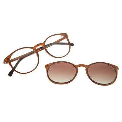 Armação Para Óculos De Grau Unissex Chilli Beans Essential Multi Marrom Brilho Polarizado LV.MU.0406-5702