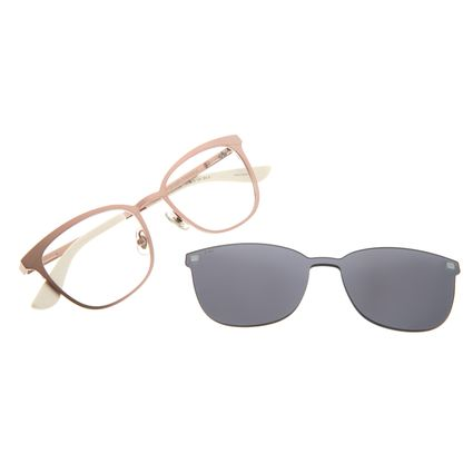 Armação Para Óculos De Grau Unissex Chilli Beans Multi Rosa Fosco LV.MU.0378-0413