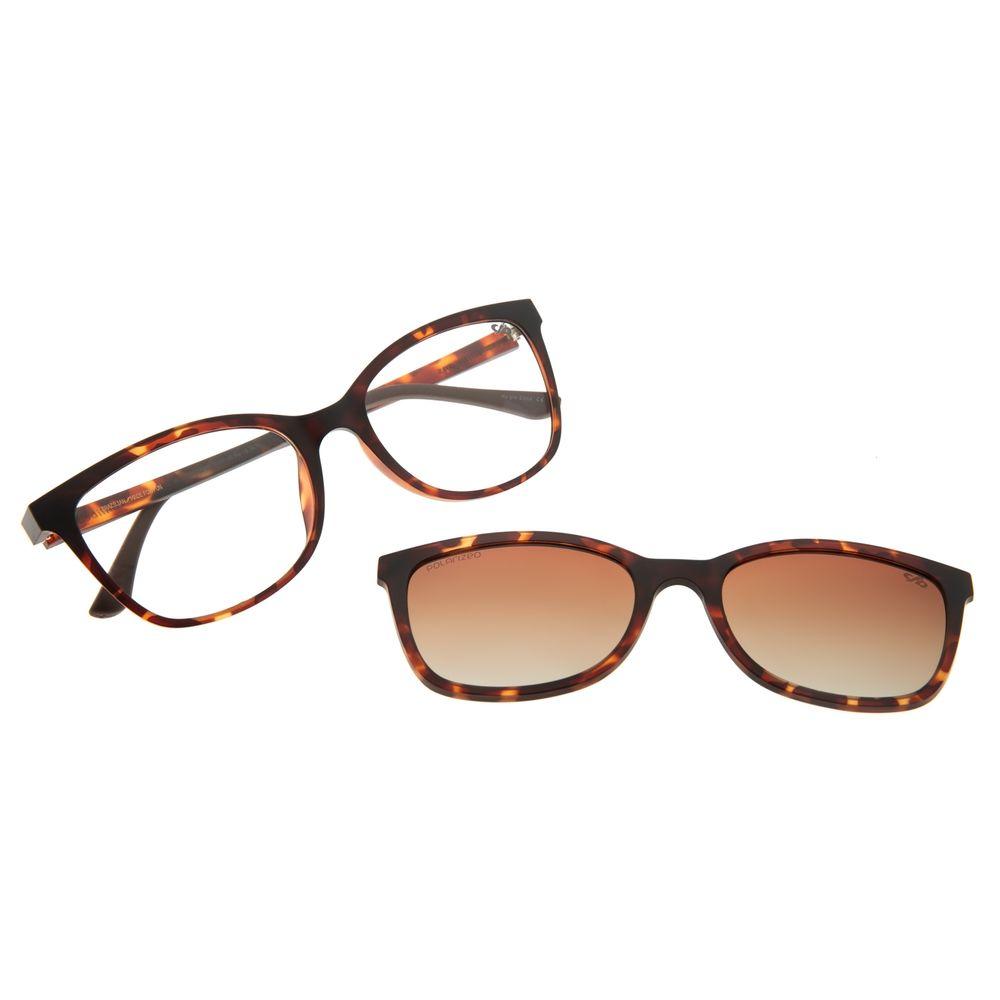 Armação Para Óculos De Grau Feminino Chilli Beans Multi Cat Tartaruga Polarizado LV.MU.0446-5706