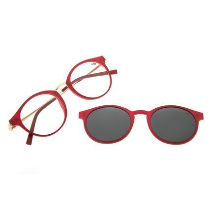 Armação Para Óculos de Grau Feminino Chilli Beans Multi Polarizado Vermelho LV.MU.0442-0116