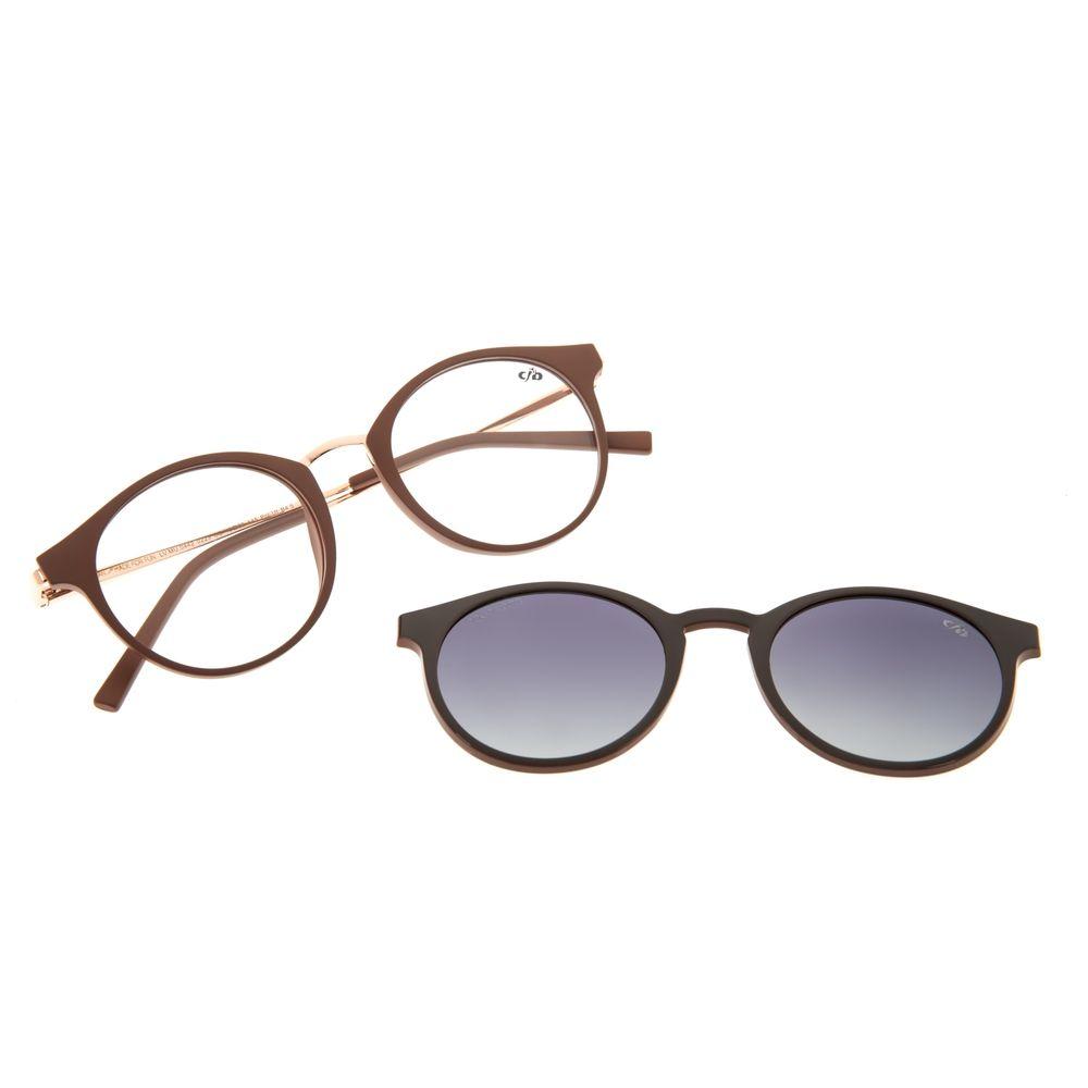 Armação Para Óculos de Grau Feminino Chilli Beans Multi Polarizado Bege LV.MU.0442-0223