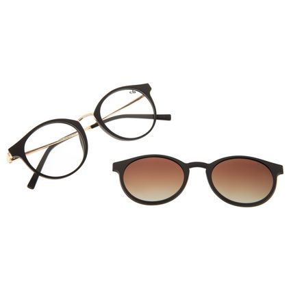 Armação Para Óculos de Grau Feminino Chilli Beans Multi Polarizado Marrom LV.MU.0442-5702