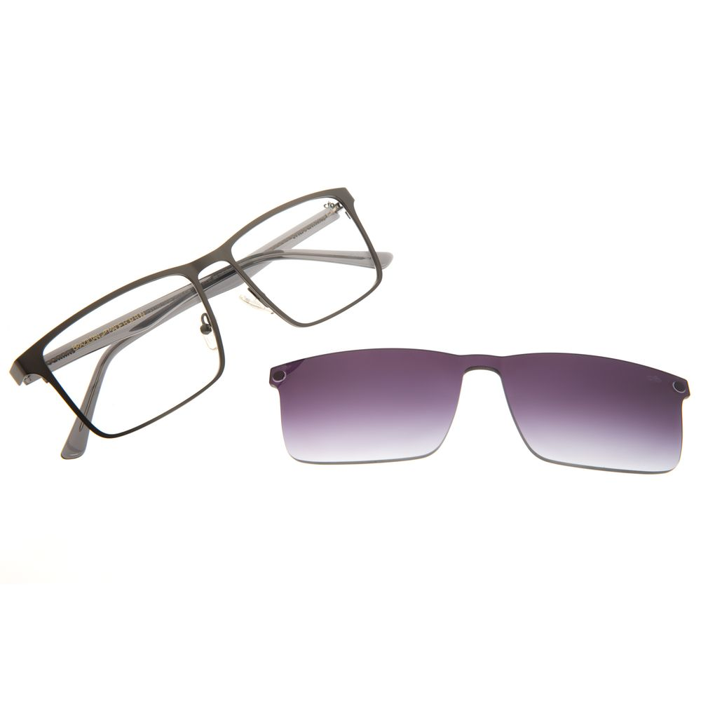 Armação Para Óculos de Grau Masculino Chilli Beans Multi Quadrado Ônix LV.MU.0398-2022