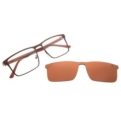 Armação Para Óculos de Grau Masculino Chilli Beans Multi Quadrado Marrom LV.MU.0398-0202