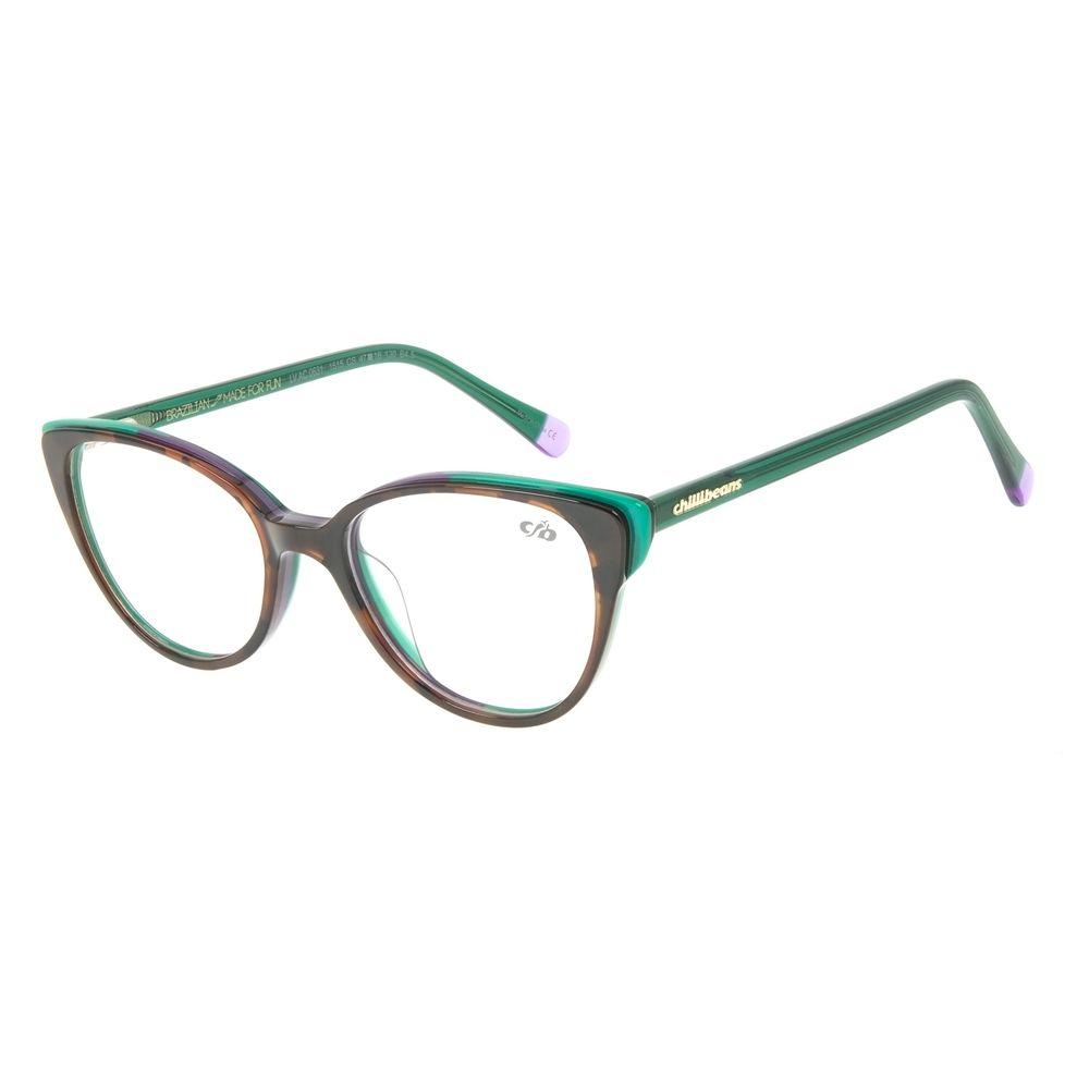 Armação para Óculos de Grau Feminino Chilli Beans Gatinho VerdeLV.AC.0631-1515