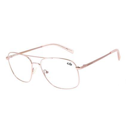 Armação Para Óculos de Grau Chilli Beans Quadrado Metal Rosa LV.MT.0413-1313