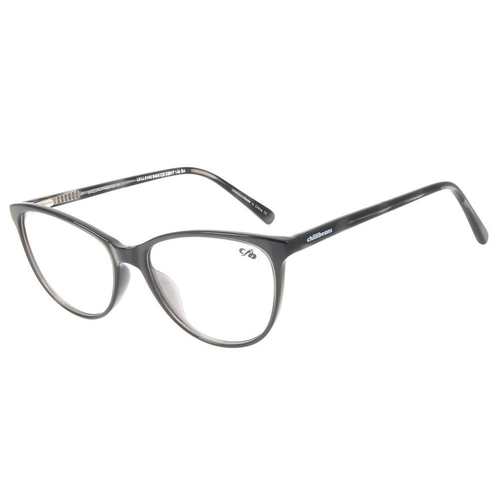 Armação para Óculos de Grau Chilli Beans Gatinho Cinza LV.IJ.0144-0404