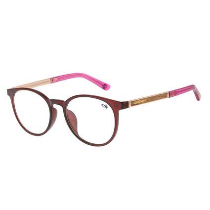 Armação Para Óculos de Grau Feminino Chilli Beans Redondo Rosé lv.ij.0155.1795