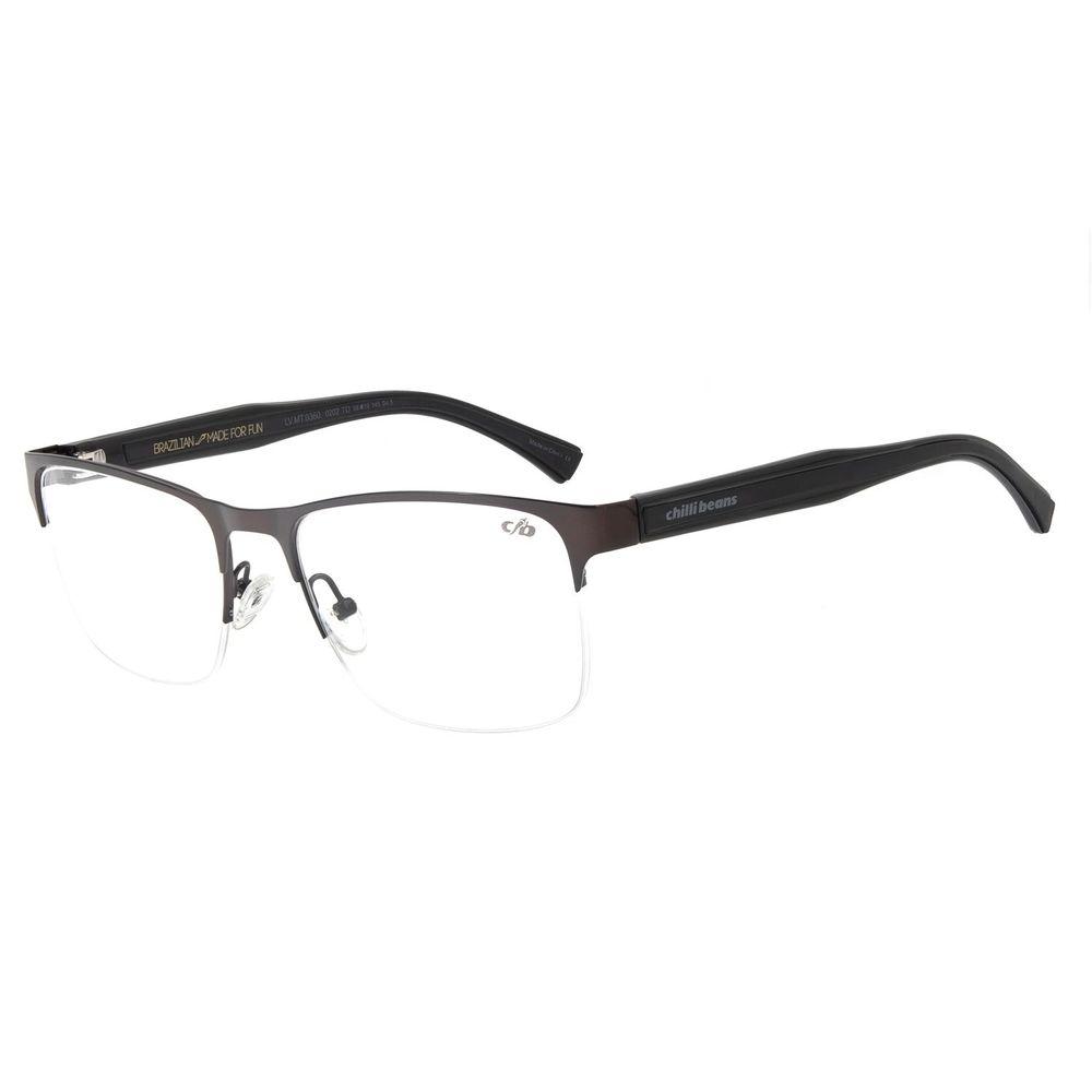Armação Para Óculos de Grau Masculino Chilli Beans Retangular Marrom LV.MT.0360.0202