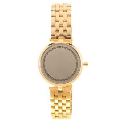 Relógio Analógico Feminino Mythos Metal Dourado RE.MT.1023-2121