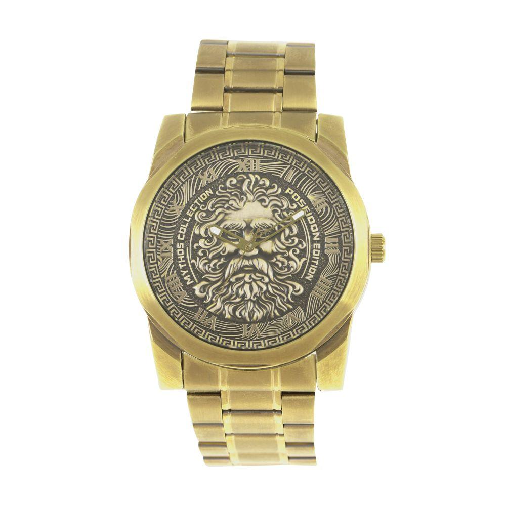 Relógio Analógico Masculino Mythos Metal Dourado RE.MT.1053-0121