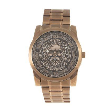 Relógio Analógico Masculino Mythos Metal Bege RE.MT.1053-2323