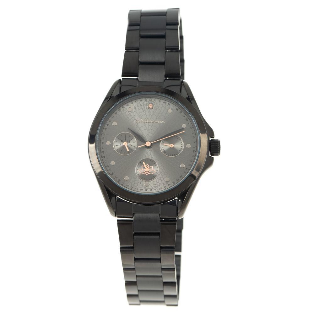 Relógio Analógico Feminino Mãe Natureza Preto RE.MT.1063-0101