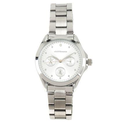 Relógio Analógico Feminino Mãe Natureza Prata RE.MT.1063-0707