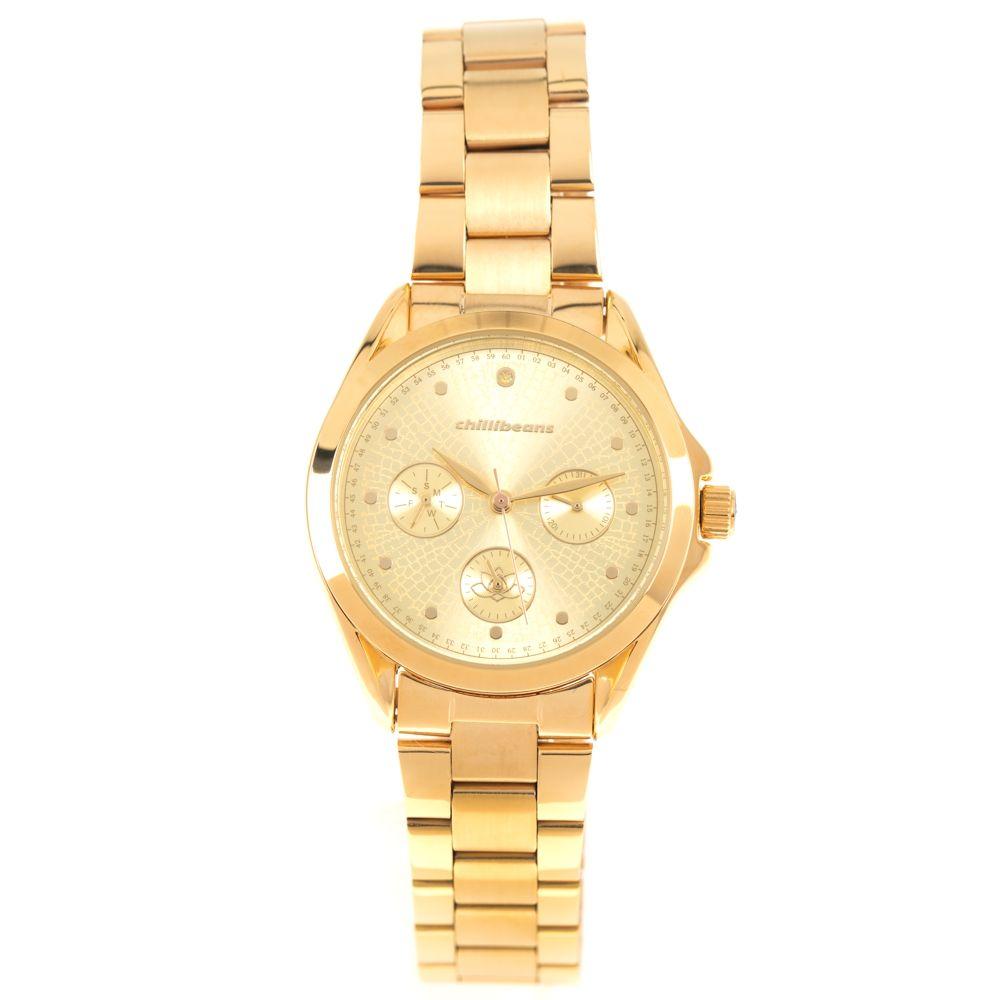 Relógio Analógico Feminino Mãe Natureza Dourado RE.MT.1063-2121