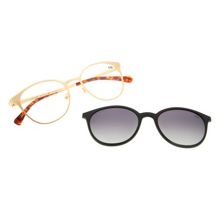Armação Para Óculos de Grau Feminino Chilli Beans Multi Dourado Polarizado LV.MU.0363-2021