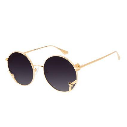 Óculos de Sol Unissex Marvel Capitã Marvel Banhado A Ouro Dourado OC.MT.2954-2021