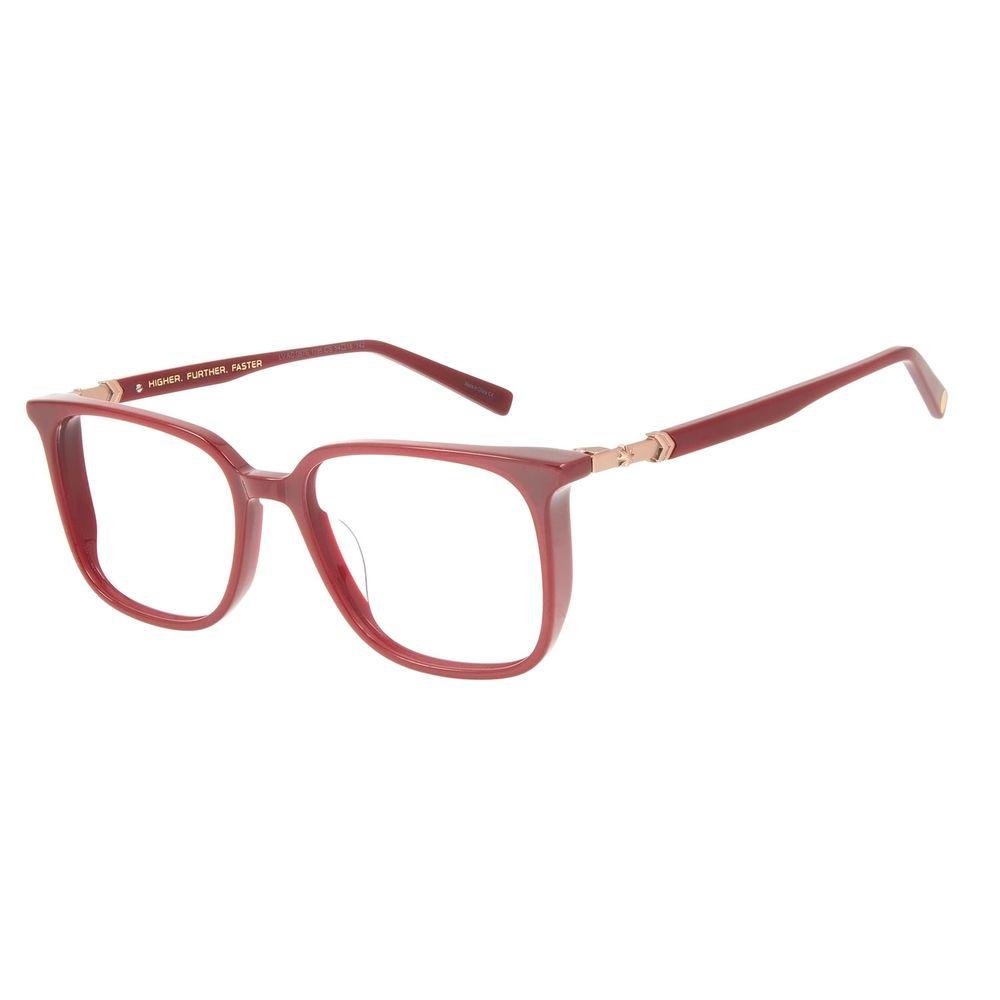 Armação Para Óculos de Grau Feminino Capitã Marvel Quadrado Vinho LV.AC.0676-1795