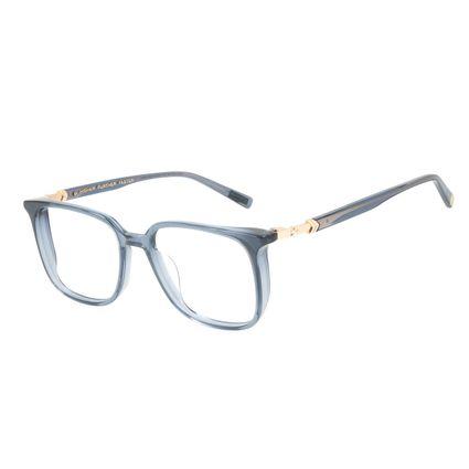 Armação Para Óculos de Grau Feminino Capitã Marvel Quadrado Azul Escuro LV.AC.0676-9021