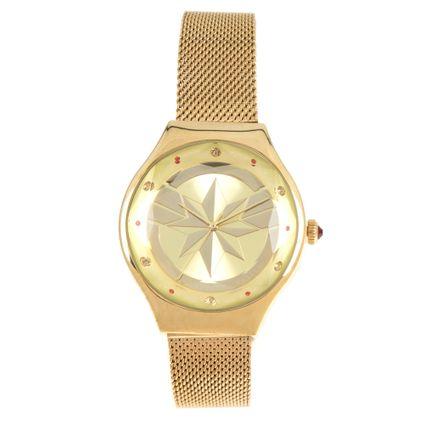 Relógio Analógico Feminino Marvel Thanos Dourado RE.MT.1122-2121