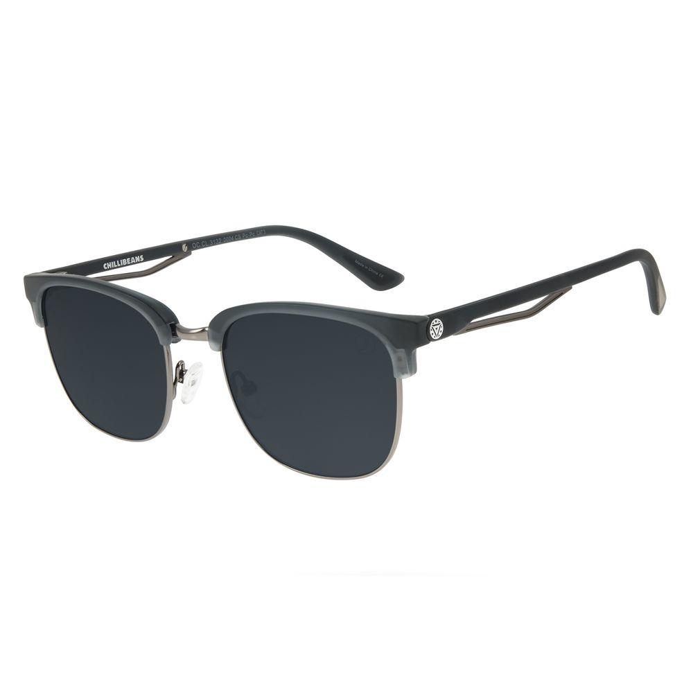 Óculos de Sol Masculino Marvel Homem de Ferro Jazz Cinza OC.CL.3132-0004