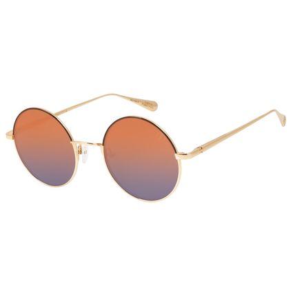 Óculos de Sol Feminino Capitã Marvel Dourado Banhado A Ouro OC.MT.2944-1121