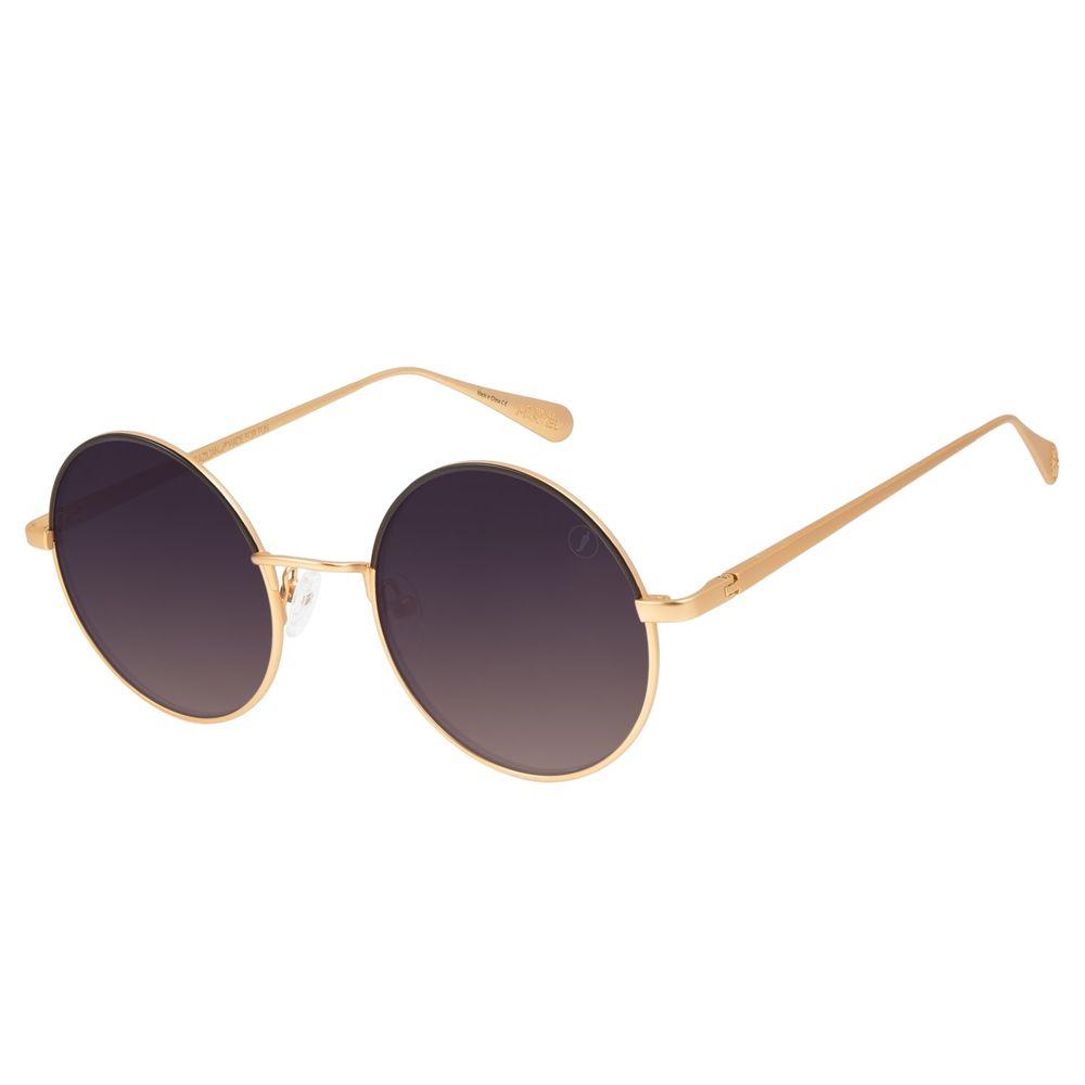 Óculos de Sol Feminino Capitã Marvel Degradê Marrom Banhado A Ouro OC.MT.2944-5721