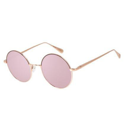Óculos de Sol Feminino Capitã Marvel Rose Banhado A Ouro OC.MT.2944-9595