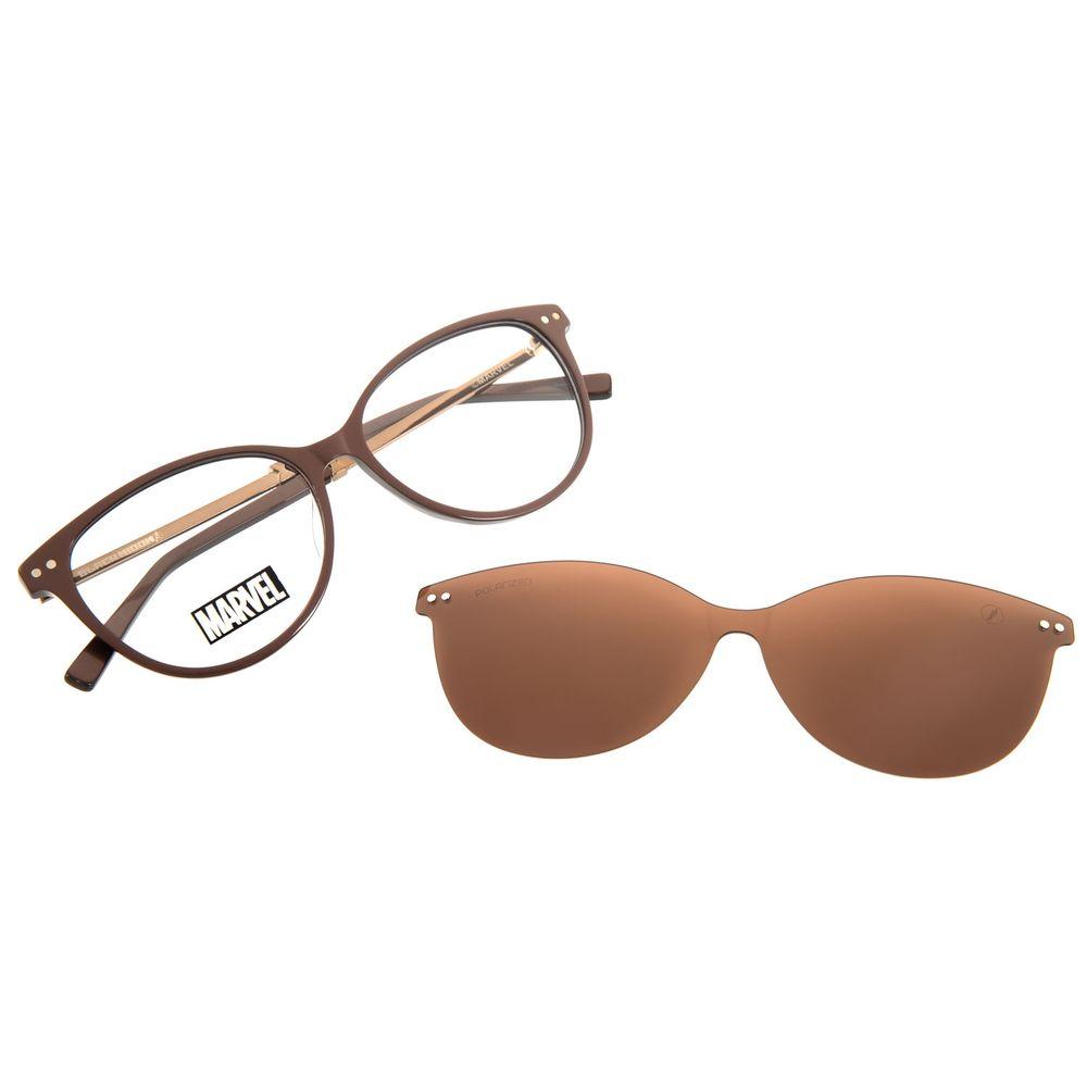 Armação Para Óculos de Grau Feminino Marvel Viúva Negra Marrom LV.MU.0485-0202